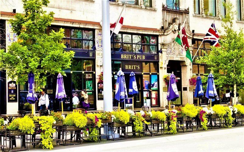 The exterior of Brit's Pub in Minneapolis